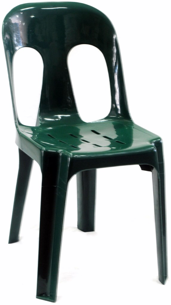 Pipee Slotted Chair, Dark Green [1024x768]